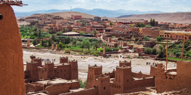 The Berber village Kasbah Ait Ben Haddou in Ouarzazate, Morocco